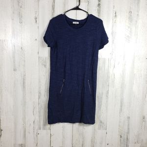 Dalia navy blue tshirt dress with zipper pockets M